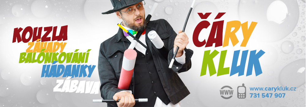 Kouzelník pro děti | ČÁRY KLUK | zábavný a vtipný kouzelník