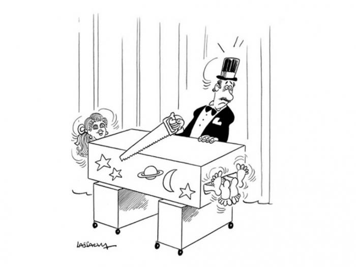 Kouzelnický vtip - přeříznutí asistentky